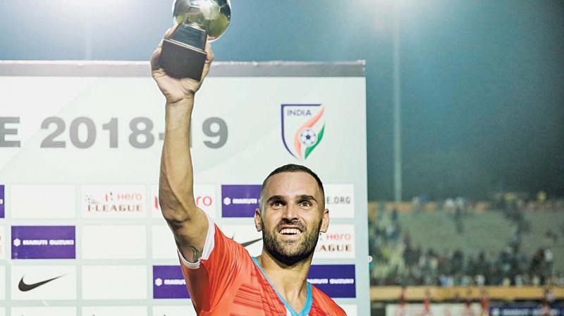 Chennai City FC's  hat-trick hero  Pedro Manzi.