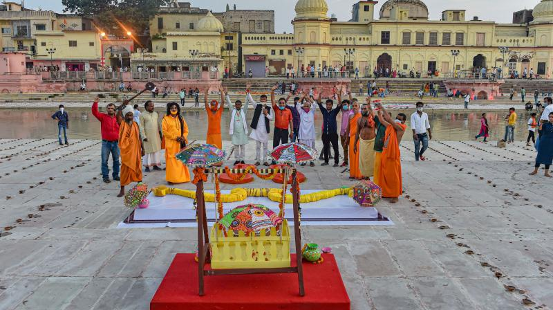Ayodhya all set for the big day. (PTI)