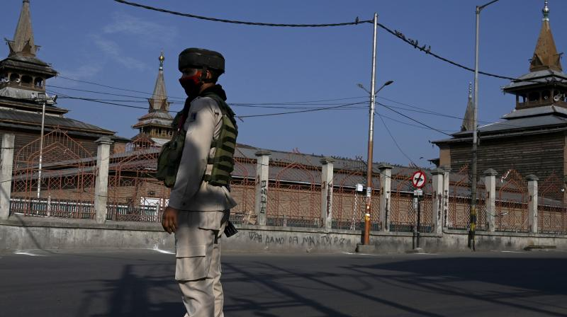 Streets wear a deserted look on the first anniversary of the abrogation of Article 370. Habib Naqash