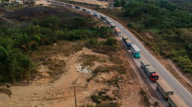 The BR163 in Brazil's Para state is a major transport route. (Photo: AFP)
