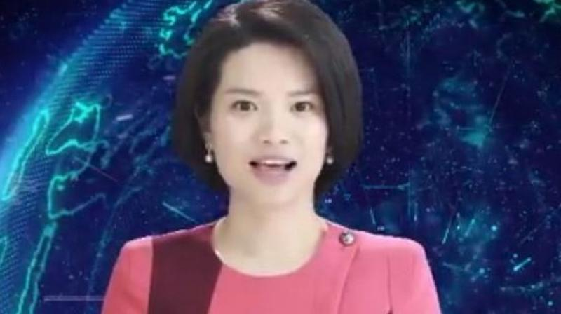 Xin Xiaomeng is modeled after real lifenews anchor Qu Meng and was developed by Xinhua and tech firm. (Photo: Screengrab)