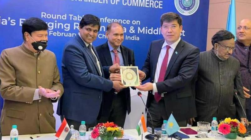 The office was inaugurated by the Ambassador of Kazaksthan His Excellency Yerlan Alimbayev and Consul Generals of Malaysia and Thailand in Chennai along with the President of the Indian Economic Trade Organization Dr. Asif Iqbal.