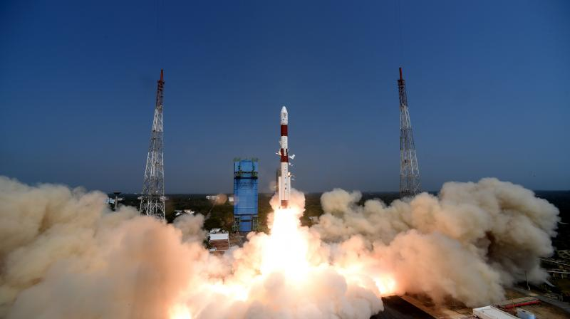 Lift-off images of PSLV-C51/Amazonia-1 Mission. (Image by arrangement)