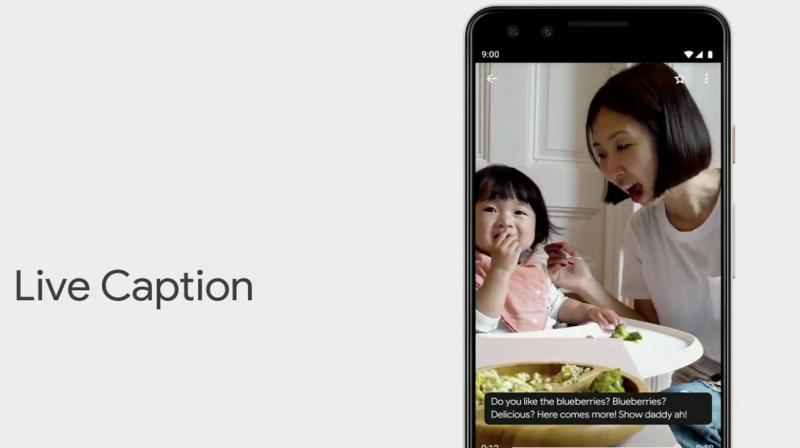 It automatically captions videos and spoken audio on the device in real-time.