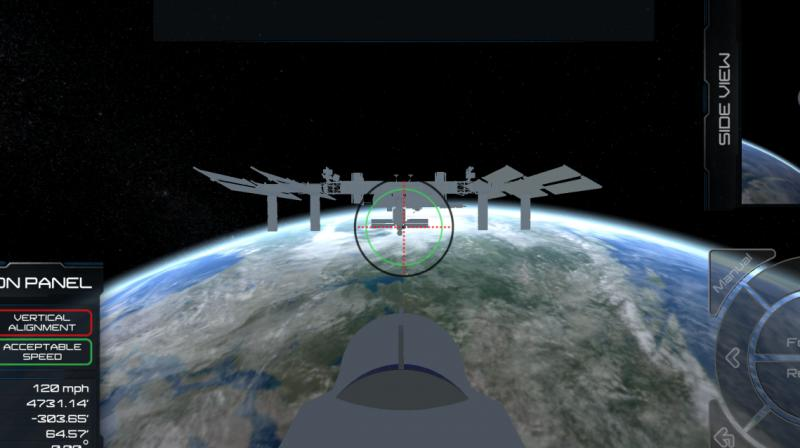 The 'Rocket Science: Ride 2 Station' app is available as a free download. (Photo: TechCrunch)