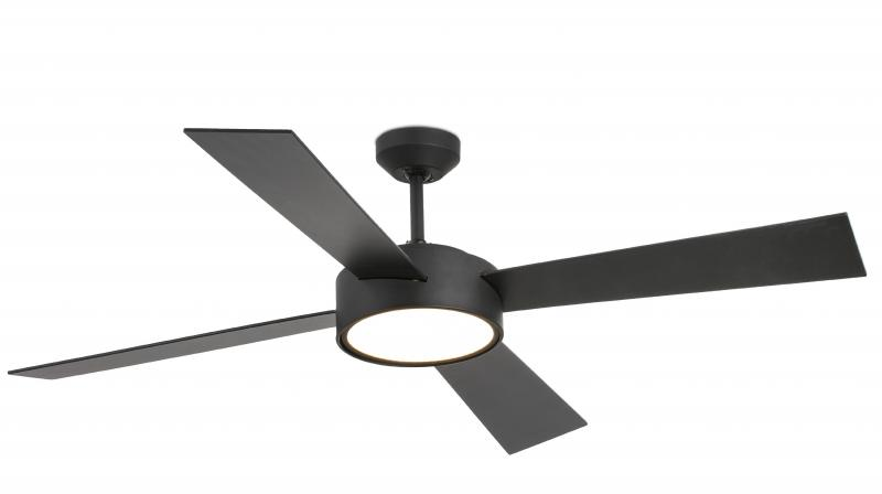 The fan comes with under light, 20Watts Warm White 3000K LED Light.