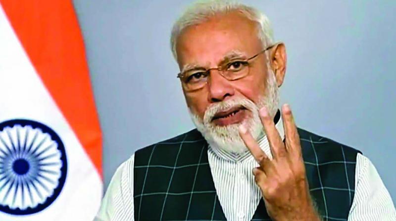 Prime Minister Narendra Modi announces the success of Mission Shakti on Wednesday. (Photo: PTI)
