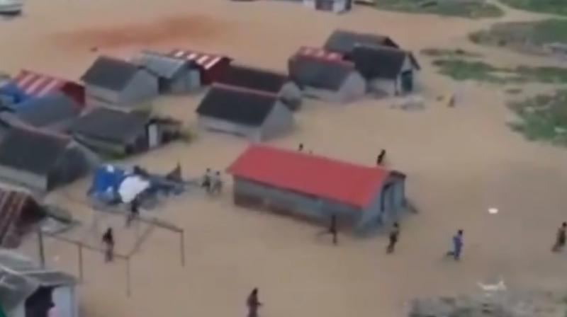 The Kerala police drone camera video has gone viral.