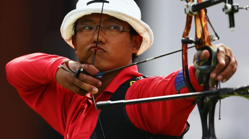 Archer Tarundeep Rai at the Tokyo Olympics 2020. (Photo: Olmypics.com)