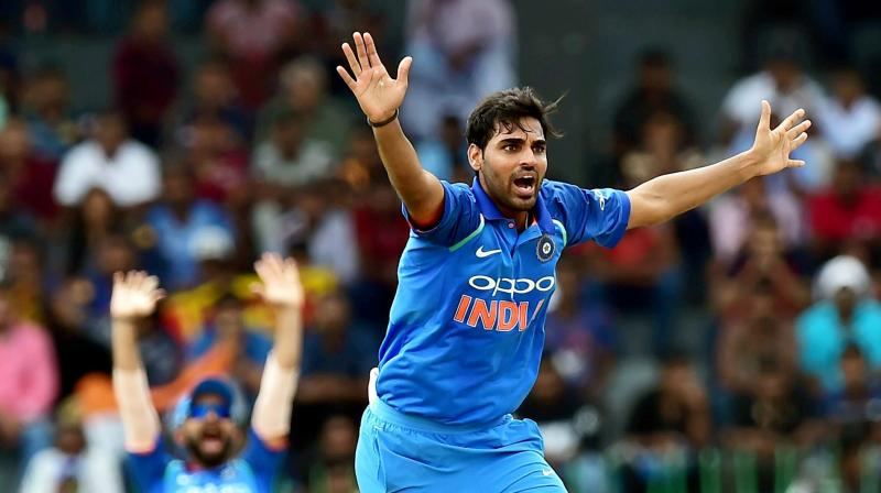 Bhuvneshwar along with Mohammed Shami and Jasprit Bumrah form the Indian pace unit. (Photo: PTI)