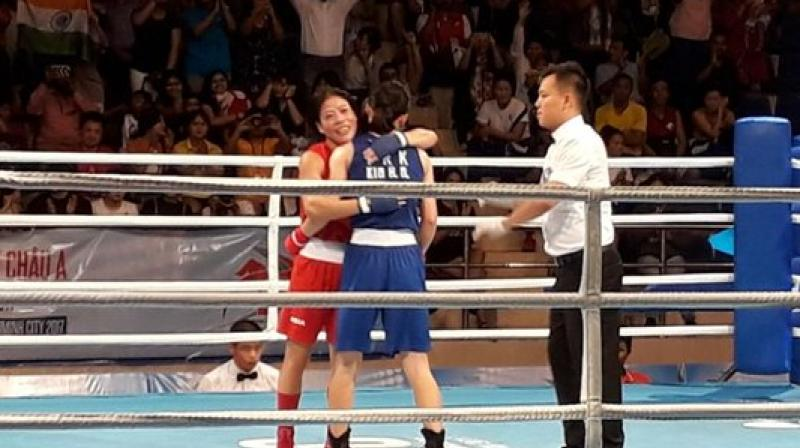 This is Mary Kom's first international gold medal since the 2014 Asian Games and her first medal in over a year.