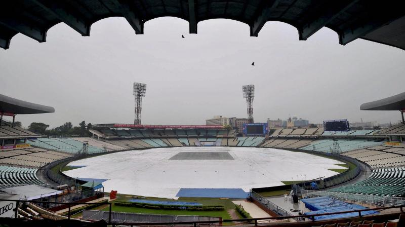 Bangladesh Prime Minister Sheikh Hasina and West Bengal Chief Minister Mamata Banerjee will ring the customary Eden Bell to start India's first ever Day-Night Test from November 22-26. (Photo: PTI)