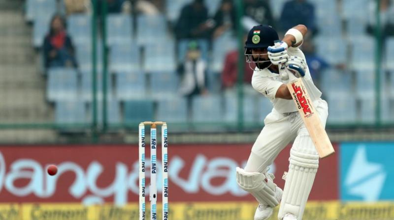 Virat Kohli alongwith Rohit Sharma have put on 90-run partnership to extend Team India's past 400. (Photo:BCCI)