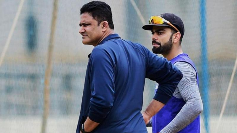 After a bitter fallout, Virat Kohli and Anil Kumble seem to have decided to move on from whatever has happened in the past as Kumble, along with his wife Chetna, attended Virat and Anushka's Mumbai wedding reception. (Photo: AFP)