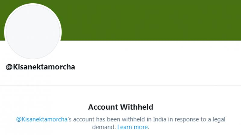 A screen capture of one of the accounts that Twitter withheld (Image source: Twitter)