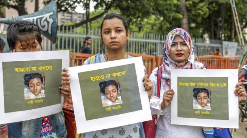 A court in Bangladesh sentenced 16 people to death on Thursday over the murder of a 19-year-old female student burnt alive in April that provoked outrage across the country. (Photo: AFP)