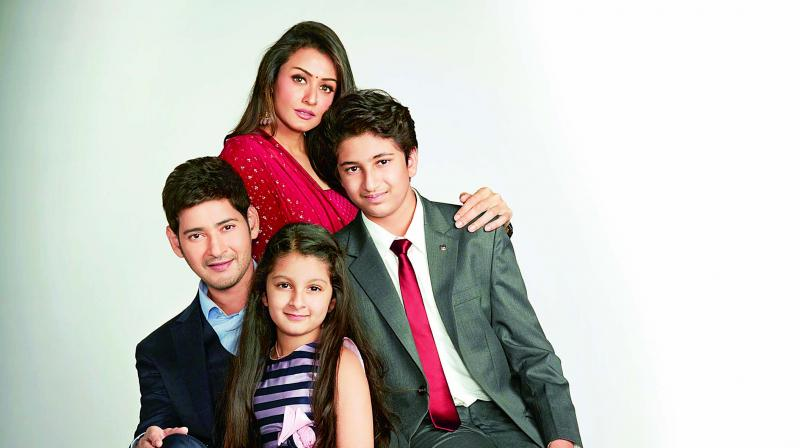 Mahesh Babu, wife Namrata and their two children, Gautam and Sitara recently did an ad together, for a realty firm.