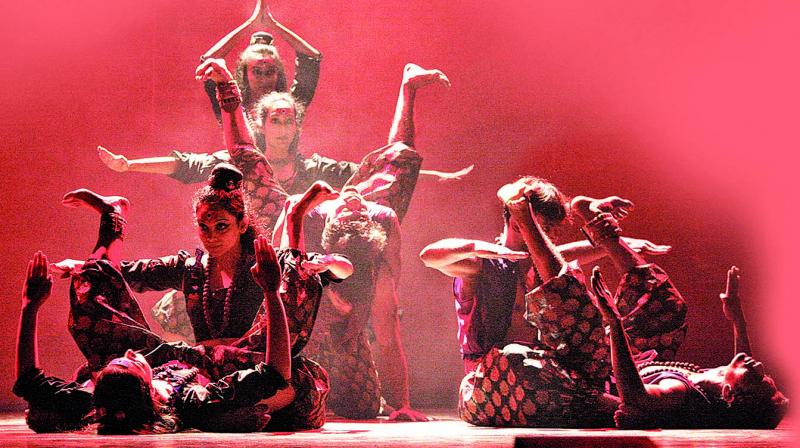 Still from dance performance Sattvam