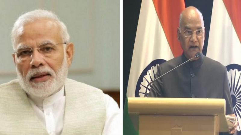Prime Minister Narendra Modi and President Ram Nath Kovind on Sunday wished the nation on the occasion of Diwali. (Photo: File)