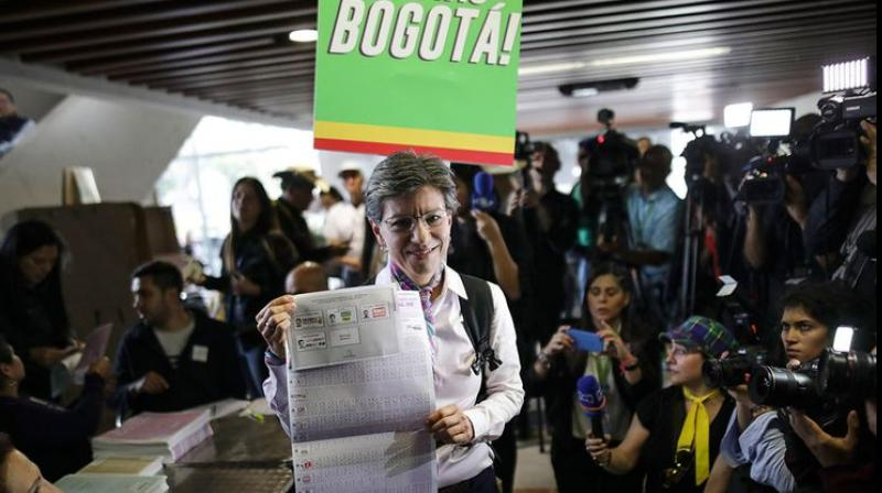 Claudia Lopez, a symbol of the fight against corruption in Colombia, on Sunday became the first woman to be elected mayor of the capital Bogota. (Photo: AP)
