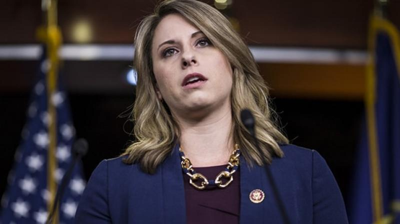 US Representative Katie Hill, who is under investigation by the House ethics committee over an alleged relationship with a congressional staffer, said on Sunday that she was resigning from Congress. (Photo: AFP)