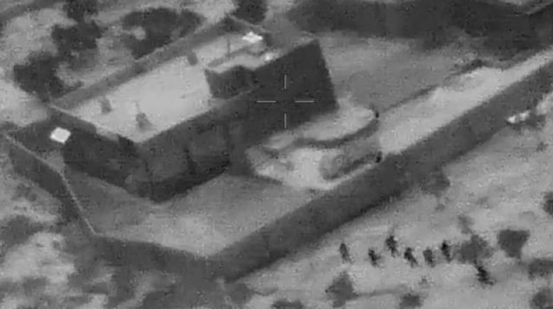 The Pentagon released video and photos on Wednesday of the US special forces raid that resulted in the death of ISIS chief Abu Bakr al-Baghdadi. (Photo: Twitter/ screengrab)