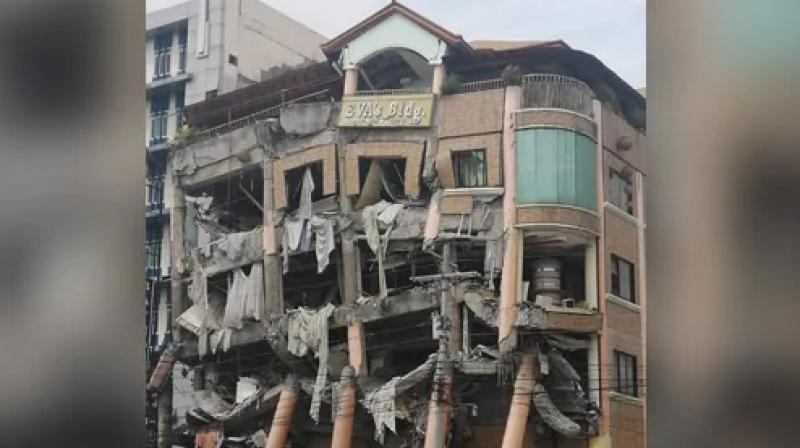 An earthquake with a magnitude of 6.5 struck central Mindanao in the southern Philippines, causing at least one hotel on the island to collapse, a disaster official said on Thursday. (Photo: AFP)