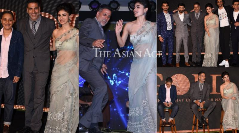 The team of upcoming sports drama 'Gold' launched a song from the film at an event in Mumbai on Friday. (Photos: Viral Bhayani)