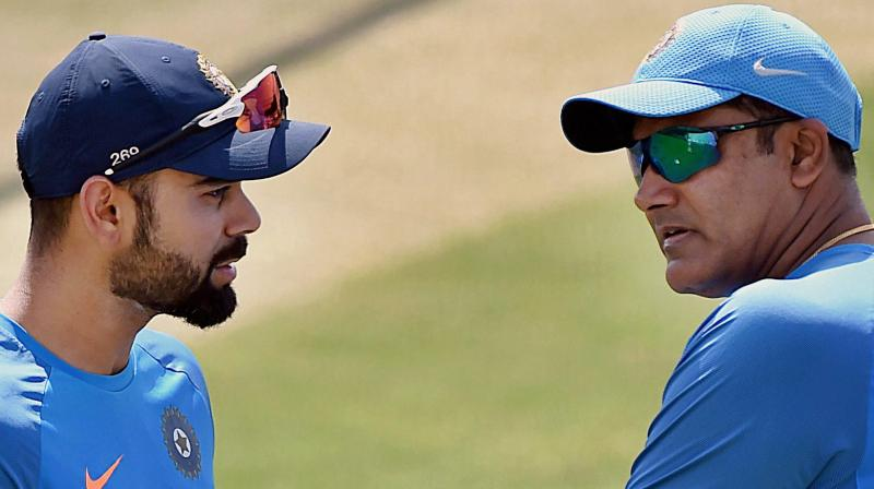 Virat Kohli and Anil Kumble (Photo: AP)