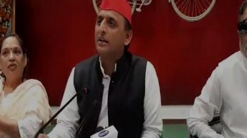 Akhilesh Yadav also said that IIM professors must explain to the BJP government how Gomti River Front Model can be a better business model and would attract tourists. (Photo: ANI)