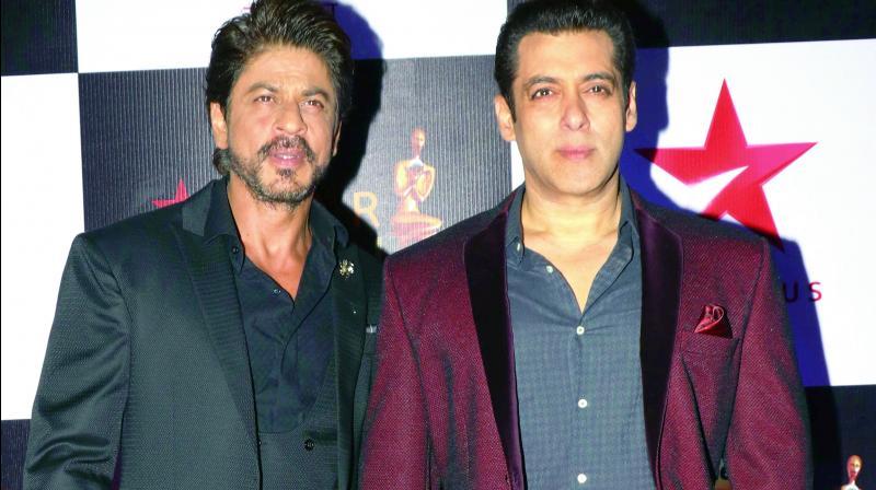 Actors Shah Rukh Khan and Salman Khan