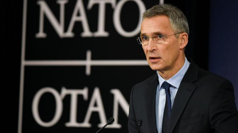 Nato secretary-general Jens Stoltenberg at a press conference in Brussels on November 7, 2017. (Photo: AFP)