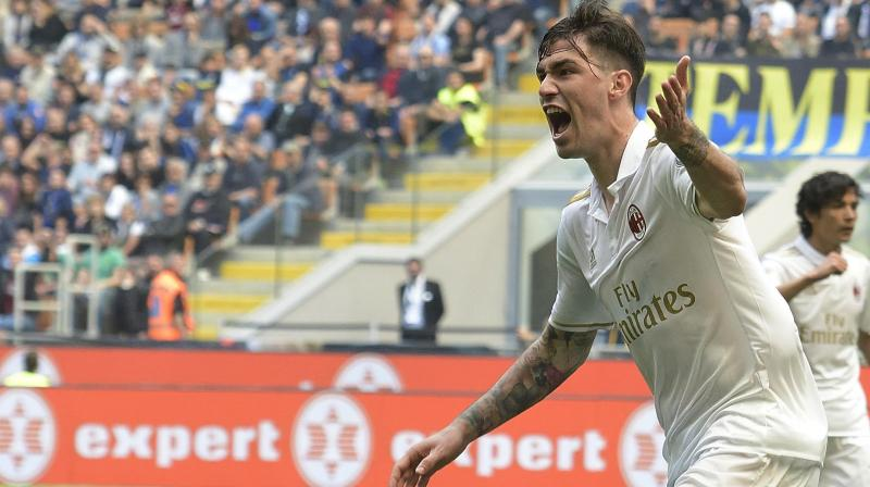 Milan remained sixth in Serie A, two points above Inter in the race for the final qualifying position for the Europa League. (Photo: AP)