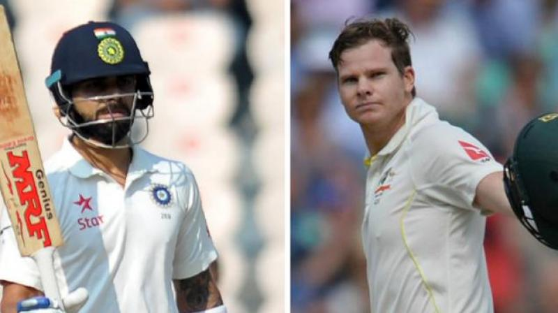 Smith also surpassed Kohli to become the second-fastest batsman to register 25 Test centuries. (Photo: AFP)
