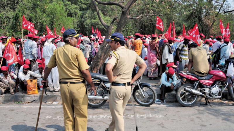 10,000 security personnel will be  stationed along the route of the march. (Photo: Debasish Dey)