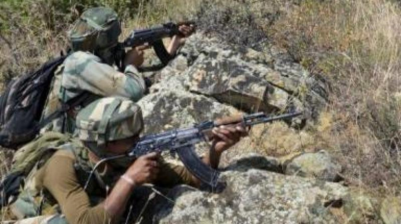 A BSF jawan suffered minor injuries yesterday when Pakistani Rangers violated ceasefire along the International Border and fired few bullets. (Representational Image)