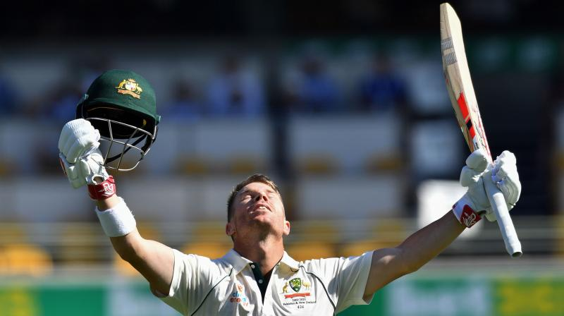 Big centuries to Marnus Labuschagne (185) and David Warner (154) helped Australia to a first-innings total of 580 in reply to Pakistan's 240. (Photo: AFP)