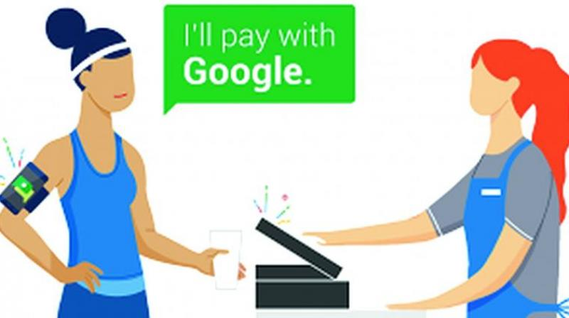Google encourages the use of Android Pay and offers a $10 Whole Foods gift card as freebie.
