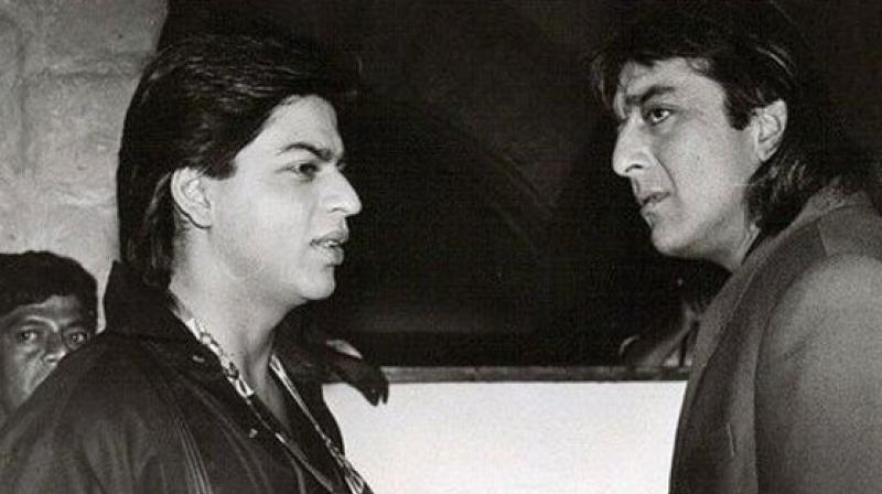 Shah Rukh Khan and Sanjay Dutt many years ago.