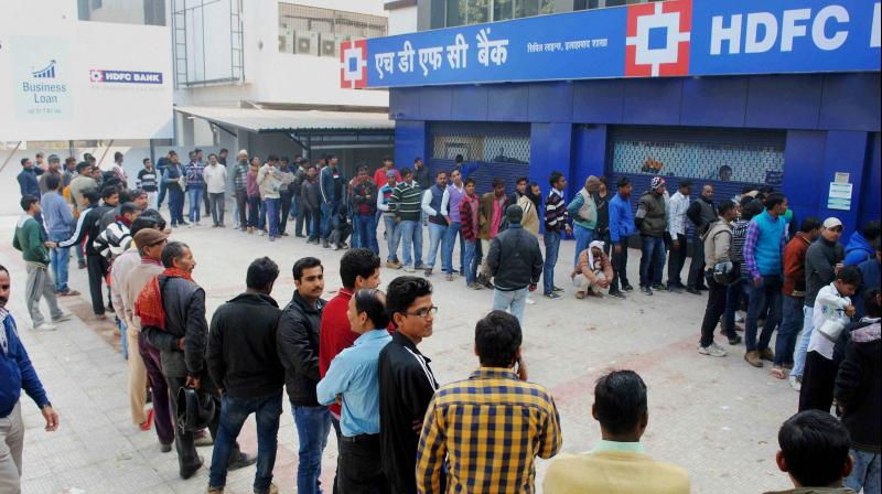 Banks, and ATMs in Mumbai ran out of cash on Wednesday. (Photo: PTI/Representational)