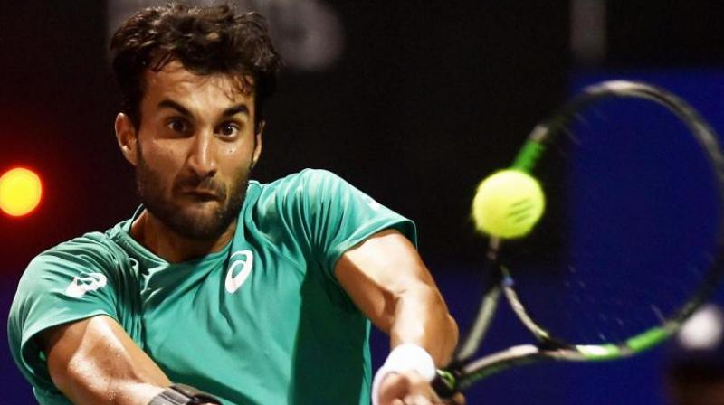 Bhambri had a chance against world number 103 Baghdatis, but he made a staggering 33 unforced errors in contrast to just three of the Cypriot to bow out in the opening round. (Photo:PTI)