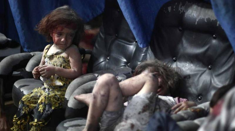 At least 20 civilians -- including four children -- were killed in Douma on Saturday, in addition to 17 civilians in other battlefront towns, said the Observatory. (Photo: AFP)