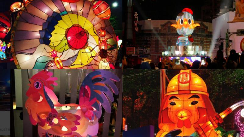 The festival has lantern of all shapes and sizes on display along the streets of Taiwan. (Photo: AP/Instagram)