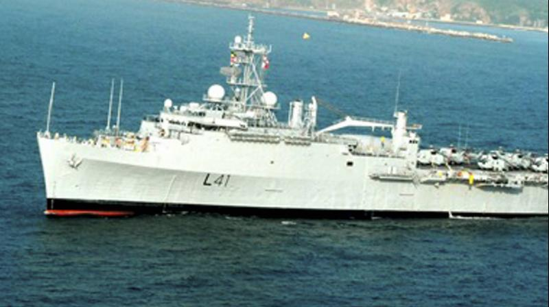 The Indian Navy has launched Operation Samudra Setu as part of the effort to bring Indian citizens home from overseas. Indian naval ships Jalashwa and Magar are presently en route to the port of Malè in the Maldives to commence evacuation operations from 8 May 2020 as part of phase-1 of the operation. (PTI representational image)