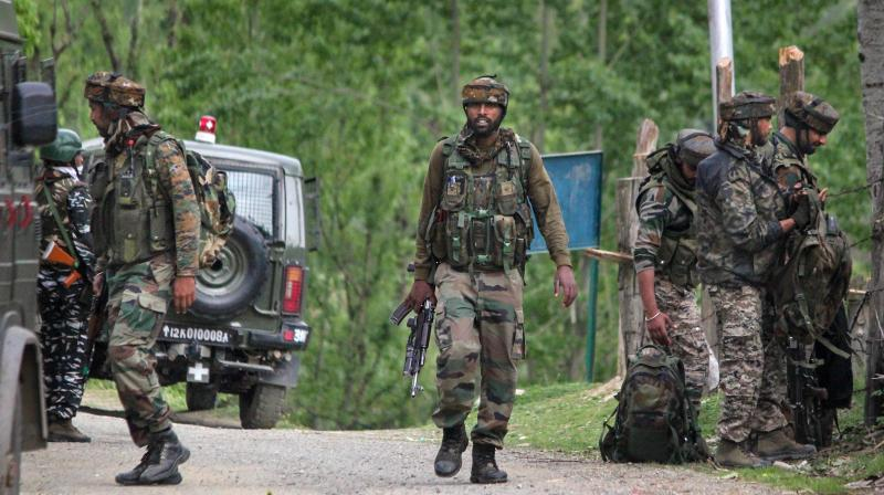 Engagement between security forces and militants has intensified this week in Kashmir. Here we see security personnel leaving after an encounter with militants in Handwara in Kashmir earlier this week. (PTI)