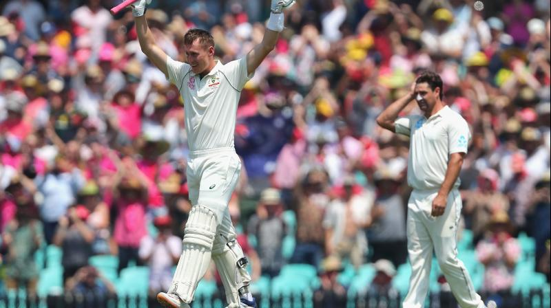 New Zealand made a secure start after a Marnus Labuschagne double century lifted Australia to a massive 454 first innings total in the third Test on Saturday. (Photo:AFP)
