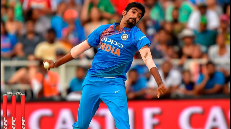 With India's prime pacer, Jaspit Bumrah returning to the Indian squad after spending four months on the sidelines because of a back stress fracture, the 'Men in Blue' will be breathing a sigh of relief, especially when the 2020 T20I World Cup is just 10 months away. (Photo:AFP)