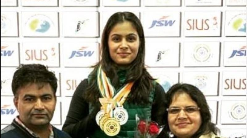 India shooter Manu Bhaker on Saturday said that even an Olympic gold medal cannot satisfy her hunger as she will always try her best to make the country proud. (Photo:Instagram)