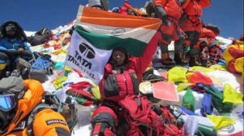 In 2014, she had already done six peaks: Everest in Asia, Kilimanjaro in Africa, Elbrus in Europe, Kosciuszko in Australia, Aconcagua in Argentina and Carstensz Pyramid (Puncak Jaya) in Indonesia. (Photo: Arunima Sinha | Website)