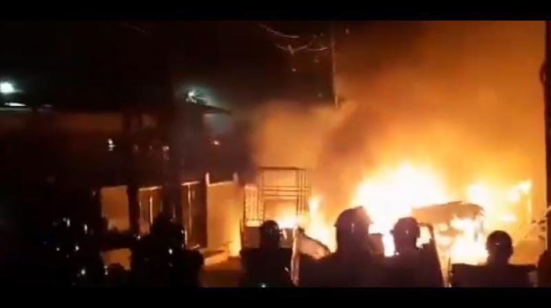 Mob violence in Bengaluru. (PTI)